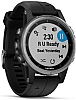 Garmin fenix 5S Plus, sølv, med sort rem