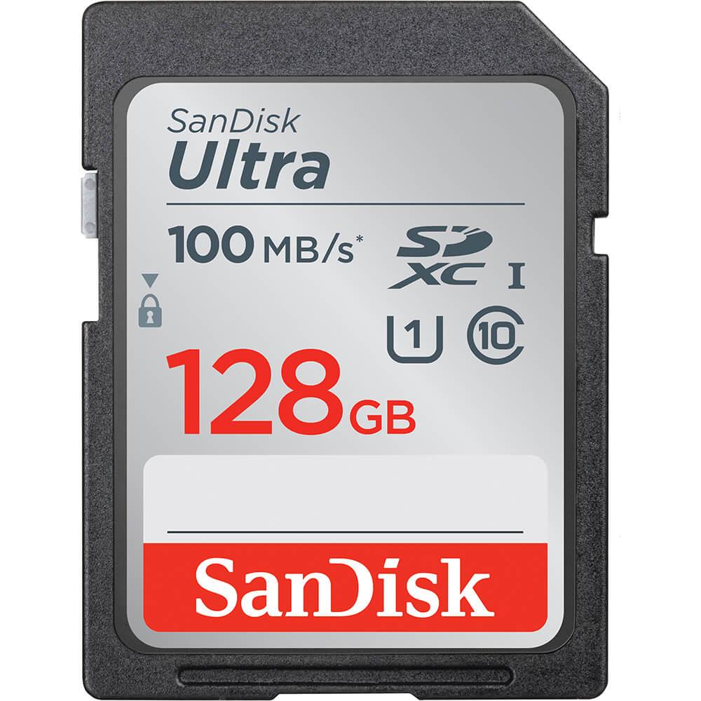 Sandisk Minnekort SDXC Ultra 128GB 80MB/s UHS-I Class10 SD Ultra 128GB