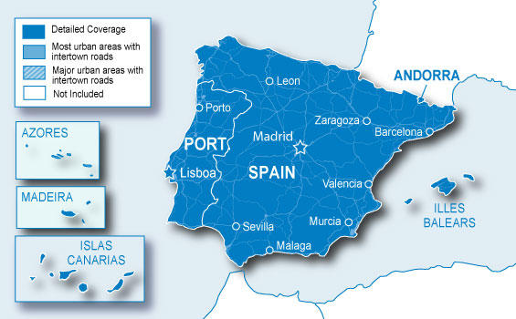 kart over portugal og spania Digitale kart til Garmin GPS fra Natur og Fritid. kart over portugal og spania