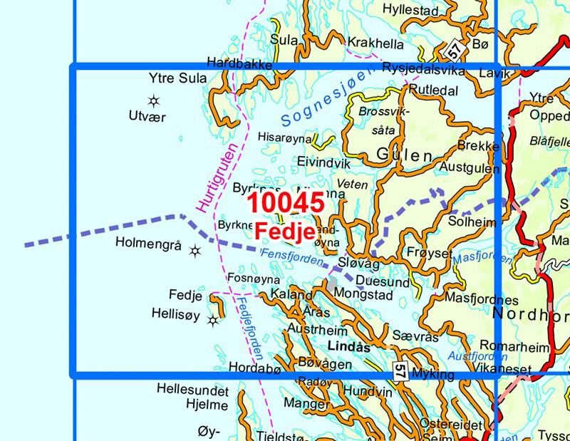 1 50 000 Kart I Norge Serien Fra Natur Og Fritid As