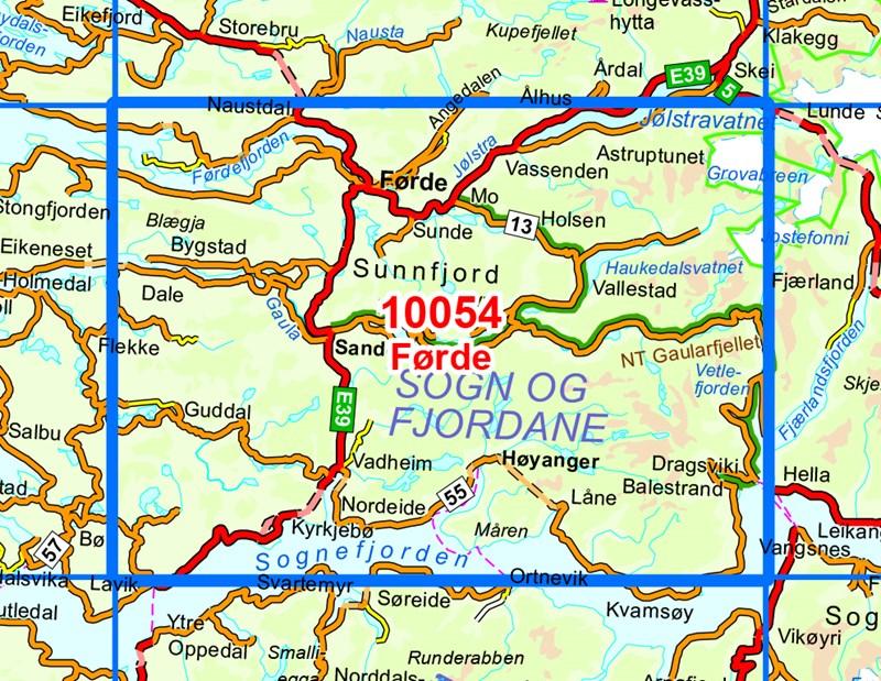 Sognefjorden kart