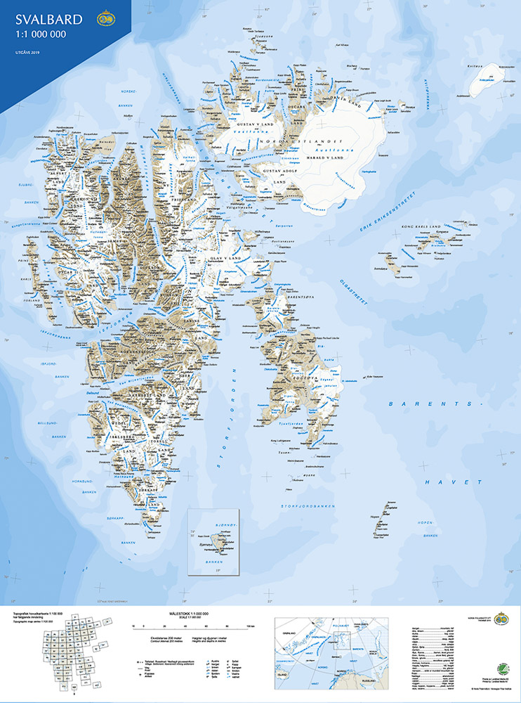 Svalbardkart Fra Natur Og Fritid