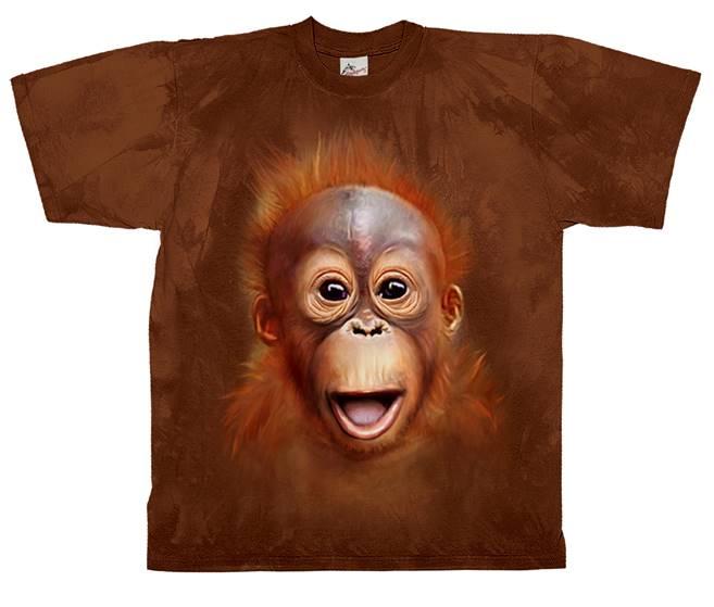 18372bb5 T-skjorter med orangutangunge motiv fra Natur og Fritid.