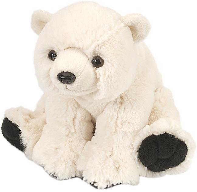 Isbjørn unge kosedyr i plysj