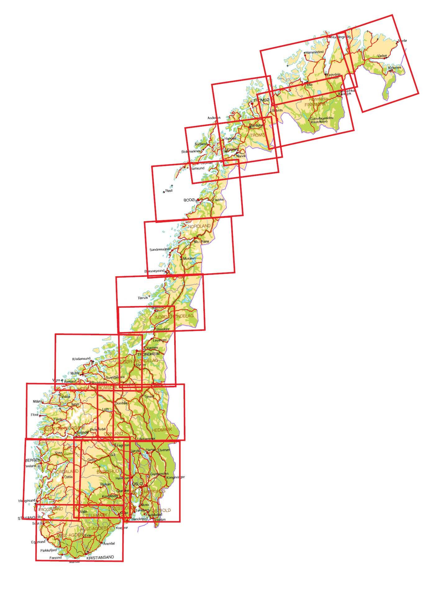 tog kart norge