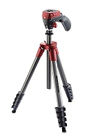 Manfrotto Compact Action Tripod Rød