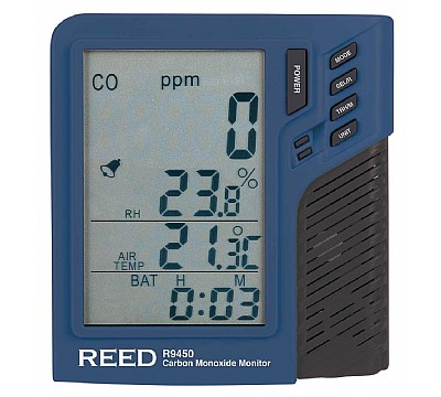 REED R9450 Carbon Monoxide Monitor with Temperature and Humidity